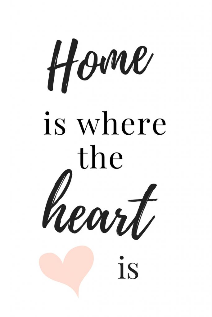 Home is where the heart is free printable!