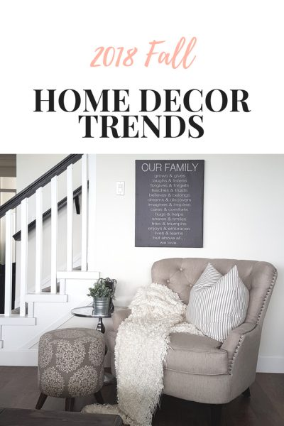 2018 Fall decor trends