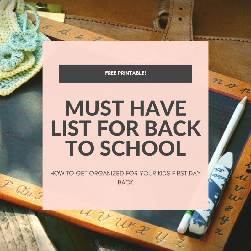 HOW TO GET ORGANIZED FOR BACK TO SCHOOL