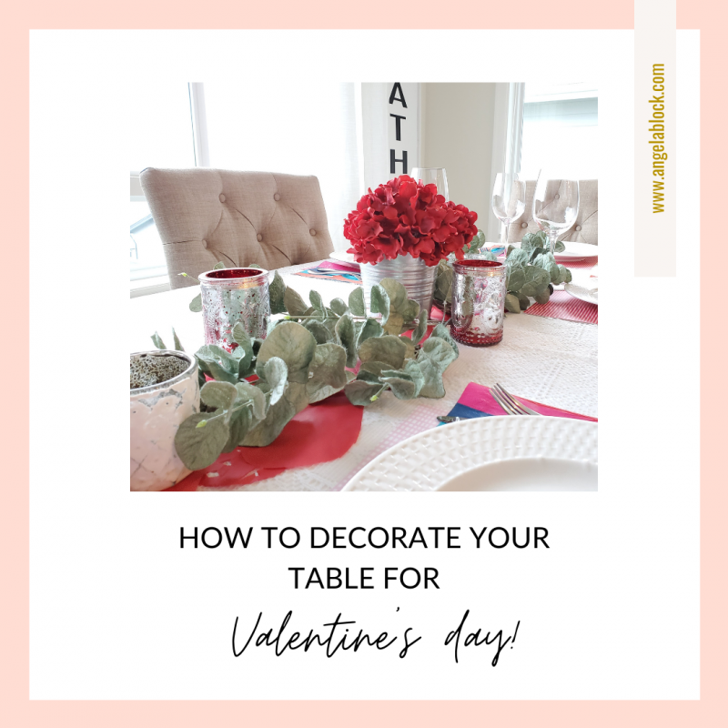 How to decorate your table for Valentine's Day