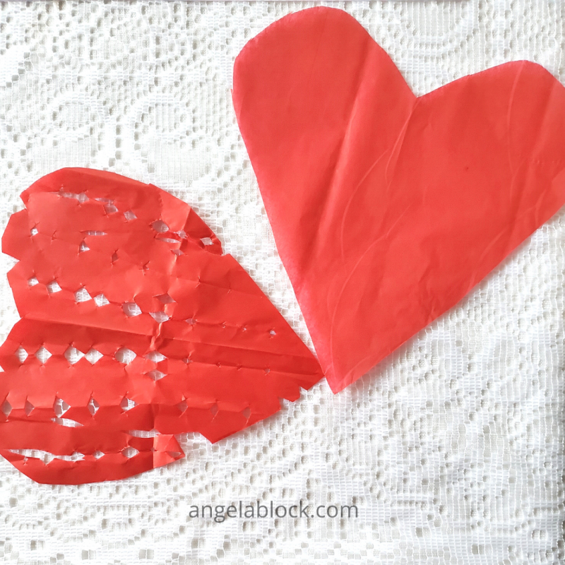 heart décor for Valentine's Day