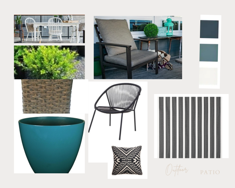 5 Must-have Tips to Update your Patio Décor. Inspiration Board.