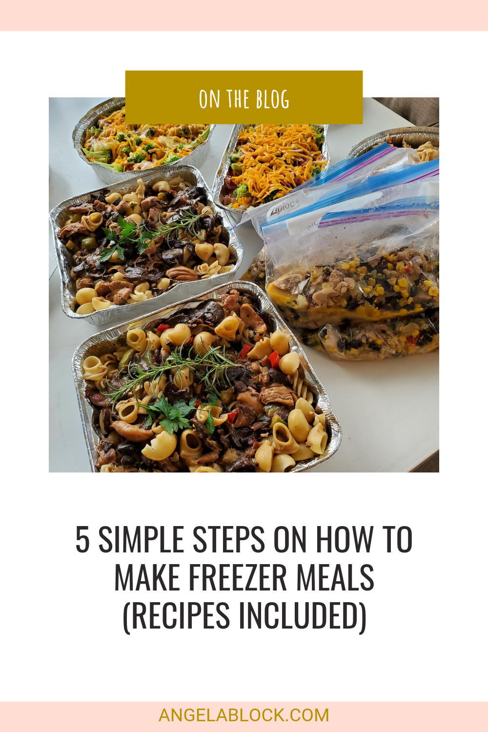 Freezer Meals ready to be frozen